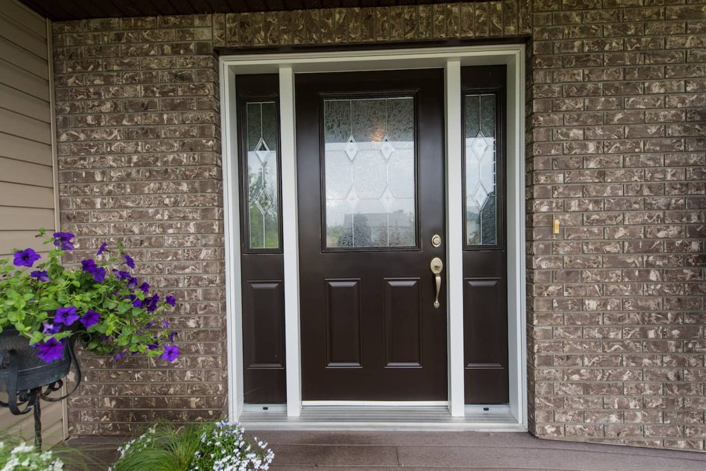 The wide front door adds to the accessibility of the home, but the lip at the door plate can be challenging for someone with limited arm mobility, as well as for someone carrying parcels or bags on their lap.