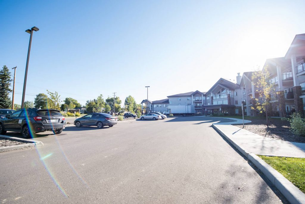 This condo complex was built recently, with the specific unit tailored for individual needs.