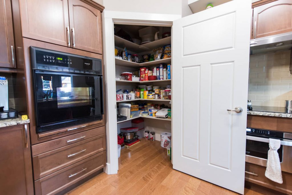 This wheel in pantry makes up for any lack of storage space created by accessibility options.
