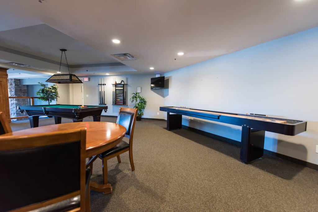 The multi-function room contains a kitchen, and is accessible by elevator.