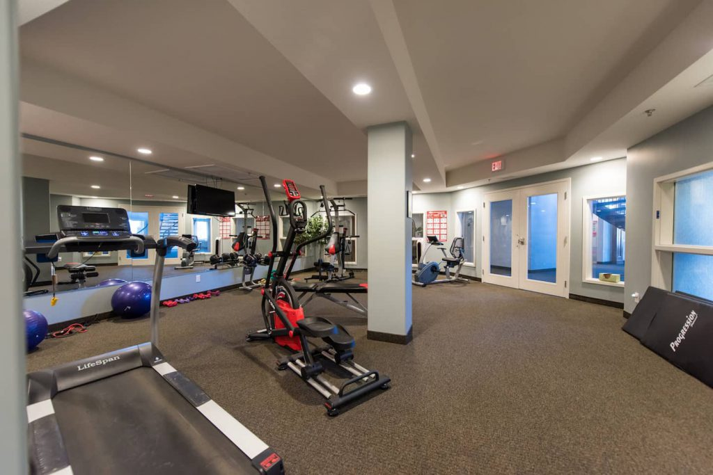 Exercise room is open to all condo owners.