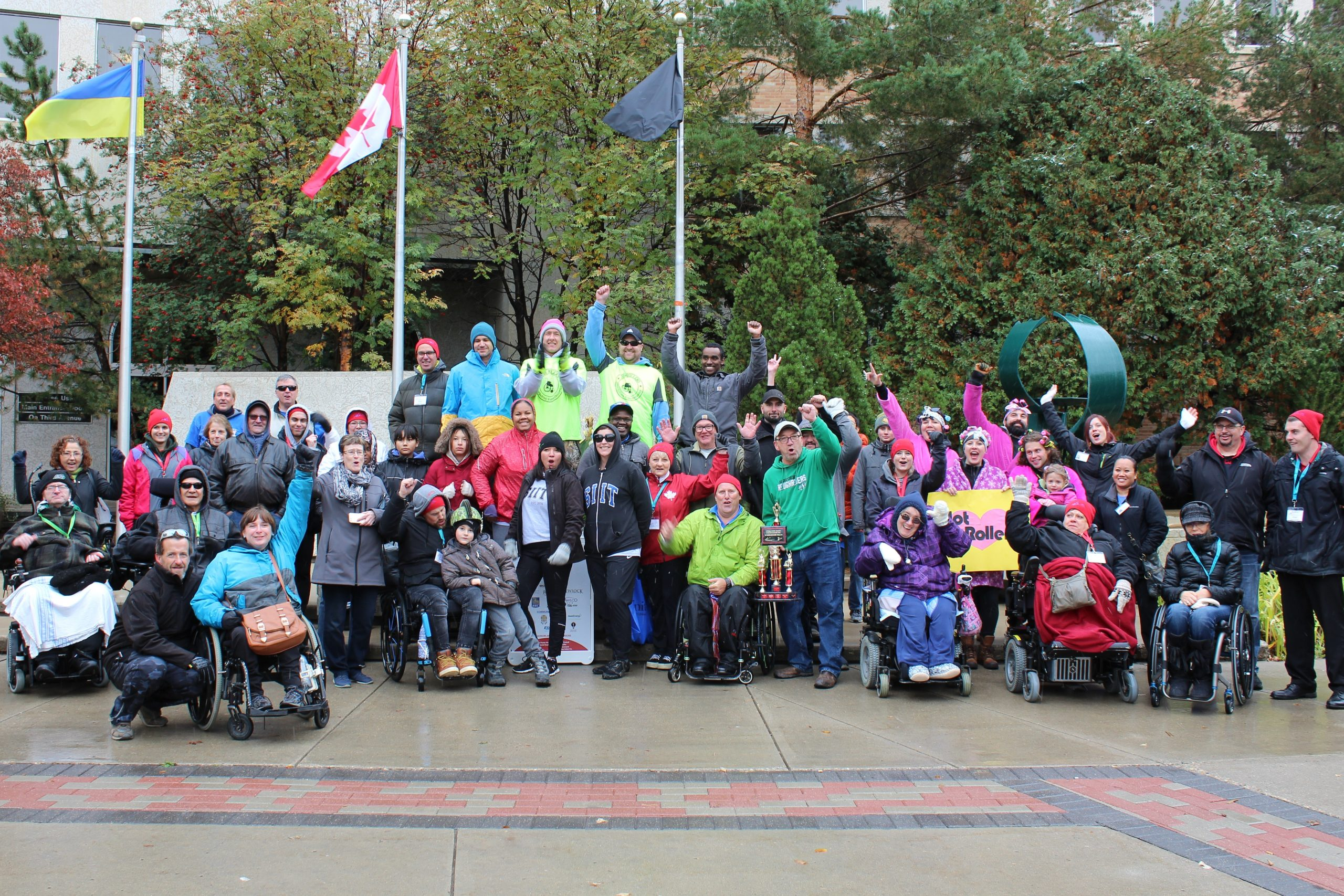Saskatoon Wheelchair Relay 2018 group picture