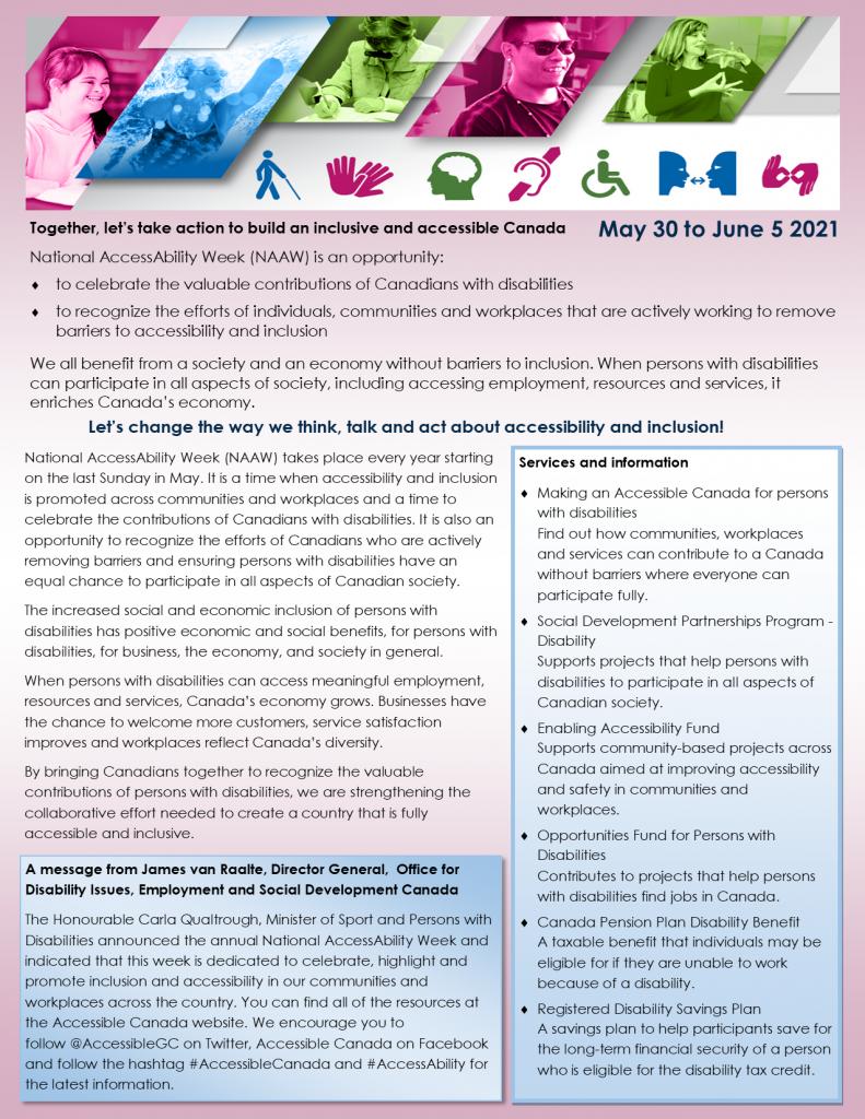 National Access and Awareness Week 2021